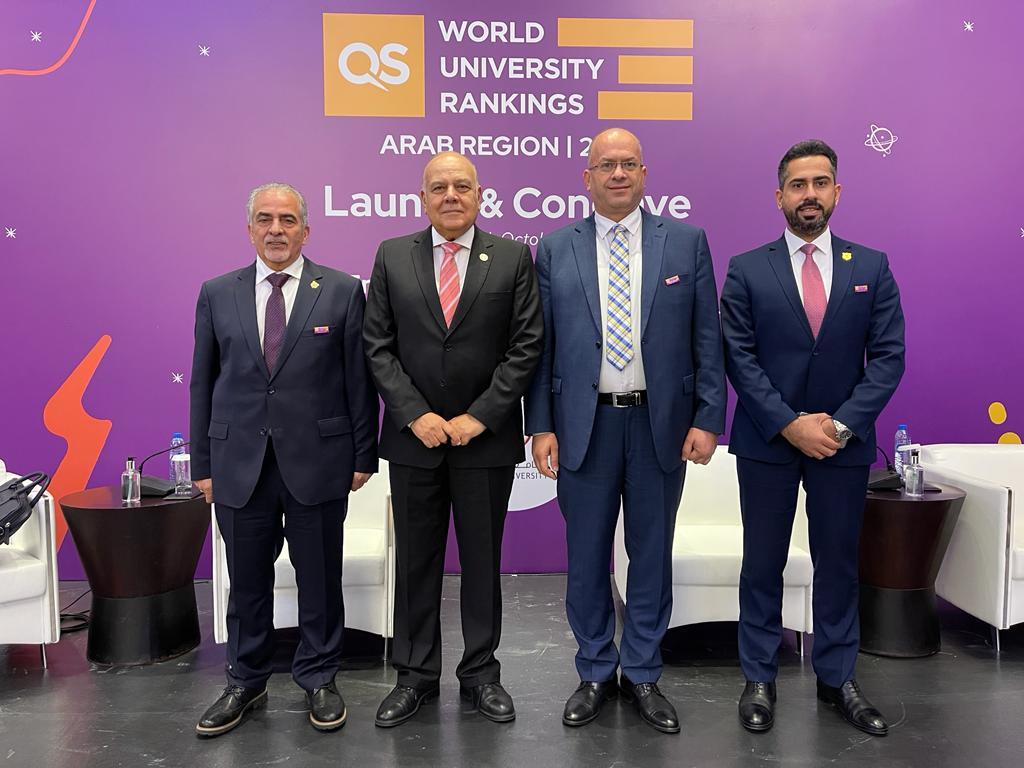 عمان الأهلية بين أول 10 جامعات أردنية و 91-100 عربياً وفق تصنيف QS لأفضل الجامعات العربية للعام 2022