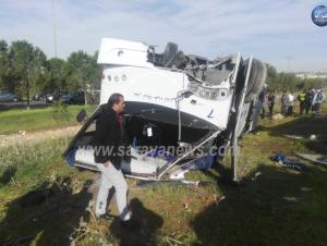 بالصور  ..  سرايا تنشر تفاصيل جديدة عن الحادث المروع الذي تسبب بوفاة شاب (29) عام واصابة (38) آخرين