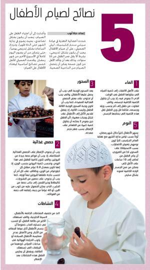5 نصائح لصيام الأطفال