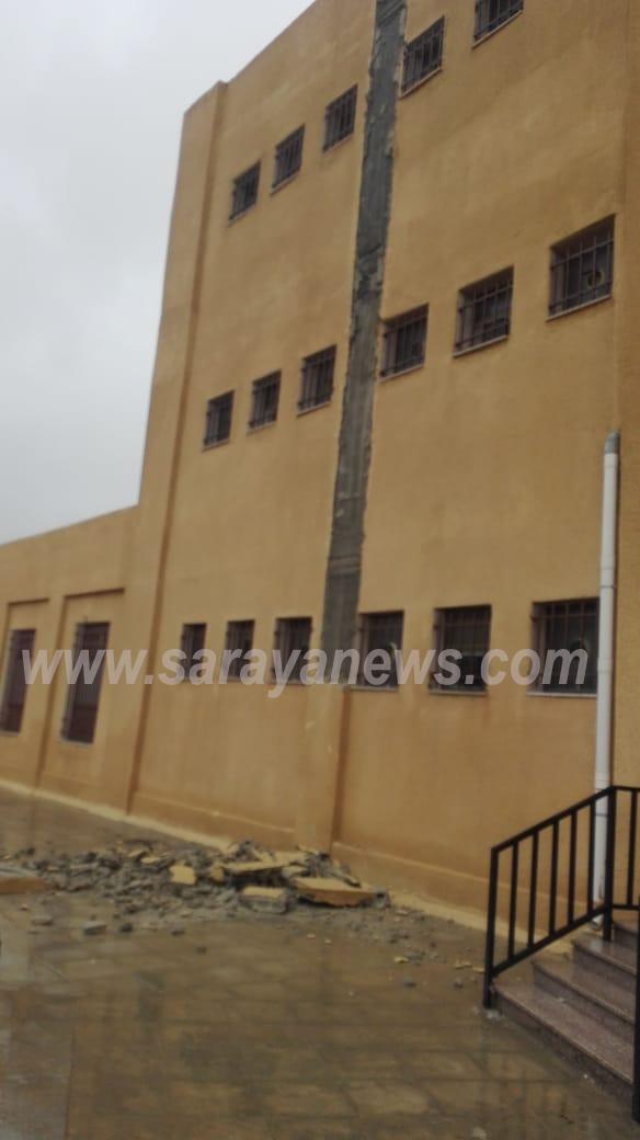 """بالصور  ..  عمان : مدرسة """"النزهة"""" بنيت حديثا  واصبحت آيلة للسقوط  وتشكل خطراً على سلامة الطلبة"""