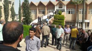 بالصور .. موظفو  جامعة اليرموك يعتصمون  للمرة السادسة على التوالي للمطالبة بحقوقهم