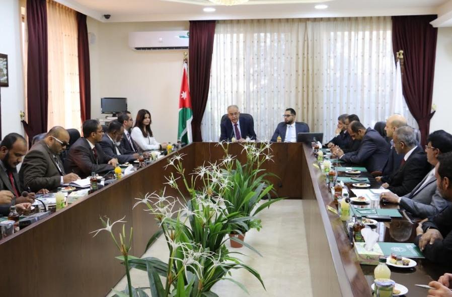 رئيس جامعة الزيتونة الأردنية الدكتور تركي عبيدات يستقبل وفدا من الجامعات اليمنية