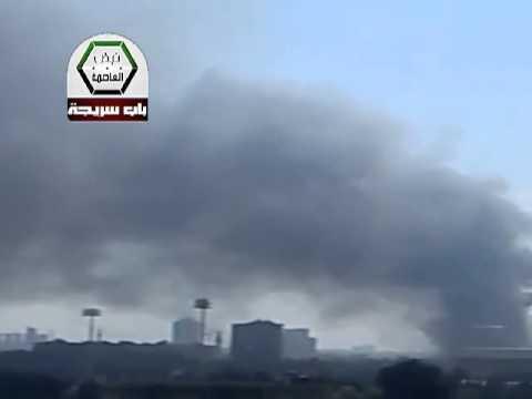 بالفيديو .. انفجار يهز دمشق قرب مقر حزب البعث