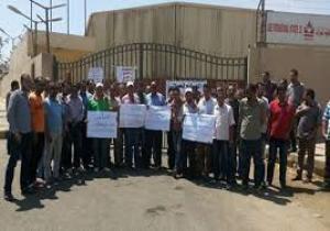 وقفة احتجاجية أمام محطة مياه القصر  بالكرك