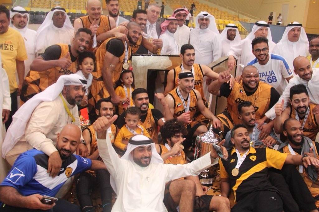 القادسية يتوج بطلا لدوري كرة السلة الكويتي