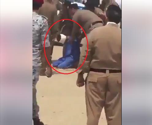 بالفيديو  ..  لحظة قيام اب بالعفو عن قاتل ابنه قبل تنفيذ حكم الإعدام بثواني