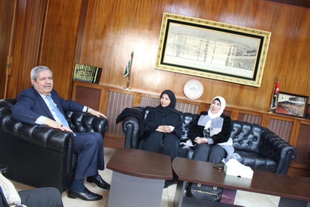 بدء الجولة التعريفية لفريق جائزة الشيخ حمد للترجمة والتفاهم في الأردن