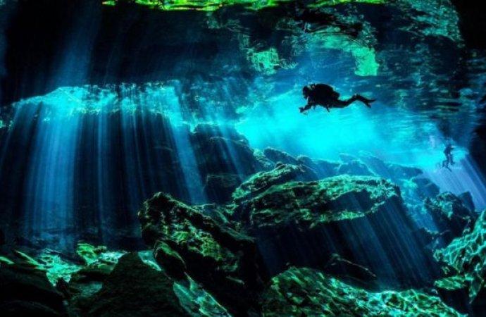 بالصور  ..  كهوف غامضة تحت الماء في المكسيك عمرها ملايين السنين