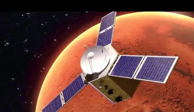 """مسبار """"الأمل"""" الإماراتي يشق طريقه في رحلة تاريخية إلى المريخ"""