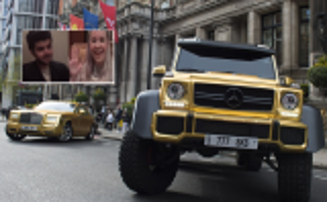 بالفيديو .. صاحب السيارات الذهبية يكشف اسرار خاصة عن حياته ويروي قصة الذهب على مركباته