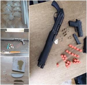 القبض على (95) من مروجي المواد المخدرة بحوزتهم كميات كبيرة من المخدرات و (6) أسلحة نارية