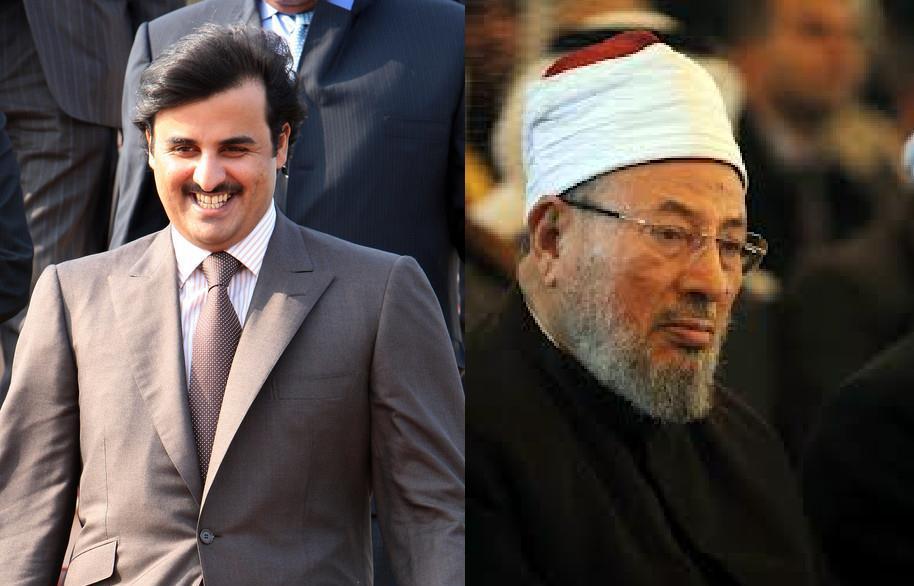 انباء عن طلب امير قطر الجديد تميم من القرضاوي مغادرة البلاد خلال 48 ساعة
