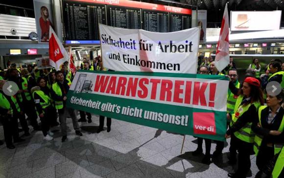 لهذه الأسباب  .. تم الغاء جميع الرحلات الجوية في مطارات المانية