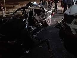وفاة 4 اشخاص واصابة 2 آخرين إثر حادث تصادم ما بين مركبتين على الطريق الجنوبي بمحافظة العقبة
