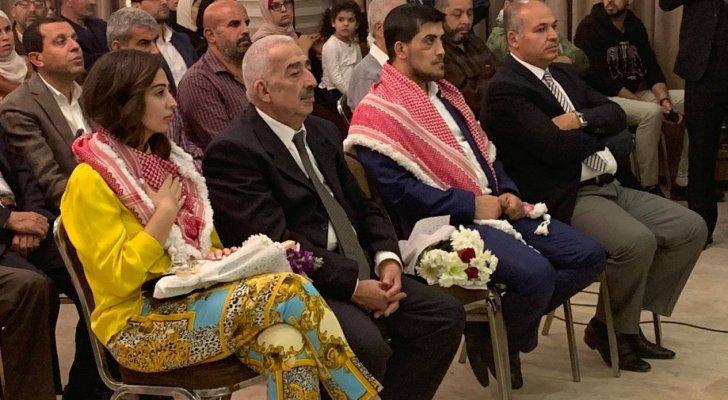 بالصور ..  حفل استقبال شعبي للأسيرين هبة اللبدي وعبدالرحمن مرعي في عمان
