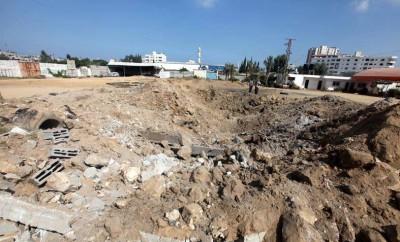 """بالفيديو ..  والصور قصف اسرائيلي يستهدف غزة  ..  يديعوت: إطلاق أربعة صواريخ على """"عسقلان"""" من غزة"""