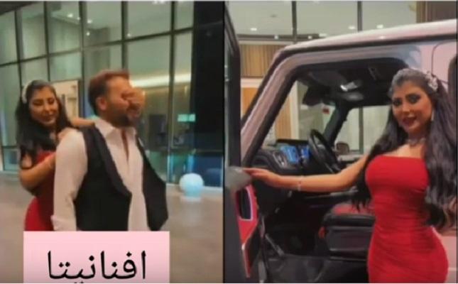 بالفيديو ..  سارة الكندري تفاجئ زوجها بهدية سيارة باهظة الثمن في عيد ميلاده