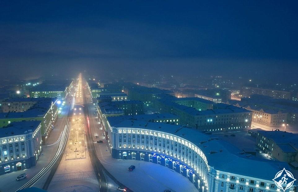 """بالصور  ..  تعرف على مدينة """"نوريلسك"""" الأكثر بردوة على وجه الأرض"""