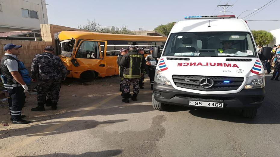 وفاة سائق حافلة مدرسية تعرض لجلطة قلبية اثناء القيادة