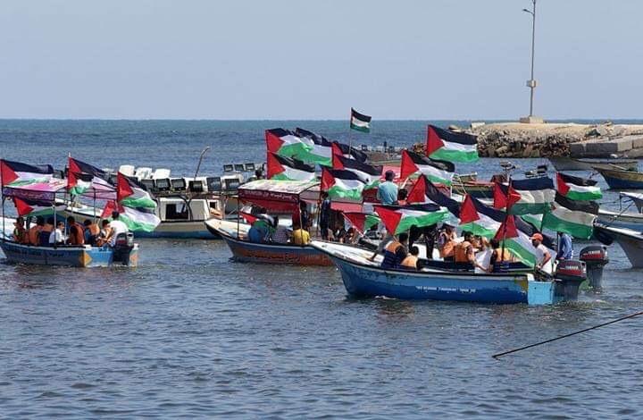 انطلاق الحراك البحري الـ13 لكسر الحصار ضمن فعاليات مسيرة العودة