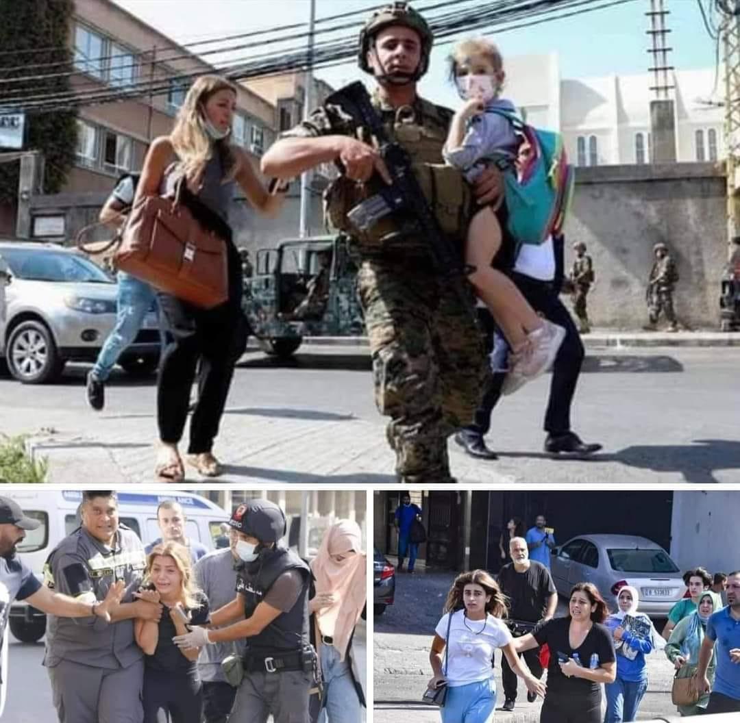 """شاهدوا فيديوهات جديدة مرعبة من أحداث اشتباكات بيروت  ..  قنص حامل قذيفة """"آر بي جي"""" وحالة من الهلع"""