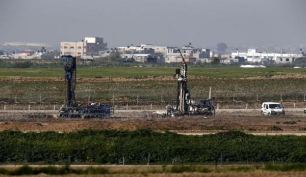 لإحباط حفر الانفاق ..  الاحتلال يبني جداراً تحت الارض حول غزة