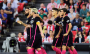 رأسية راكيتيتش تمنح برشلونة الفوز على بيلباو
