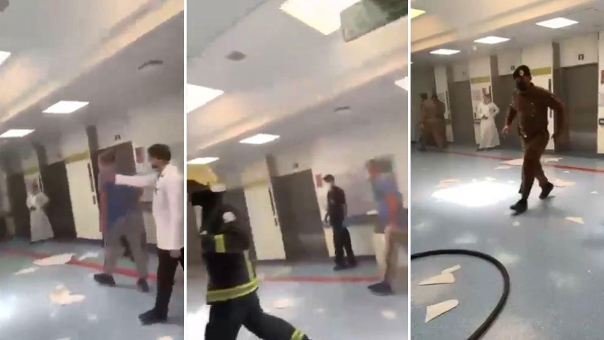 """إخماد حريق في مستشفى """"الملك سعود"""" في عنيزة السعودية (فيديو)"""