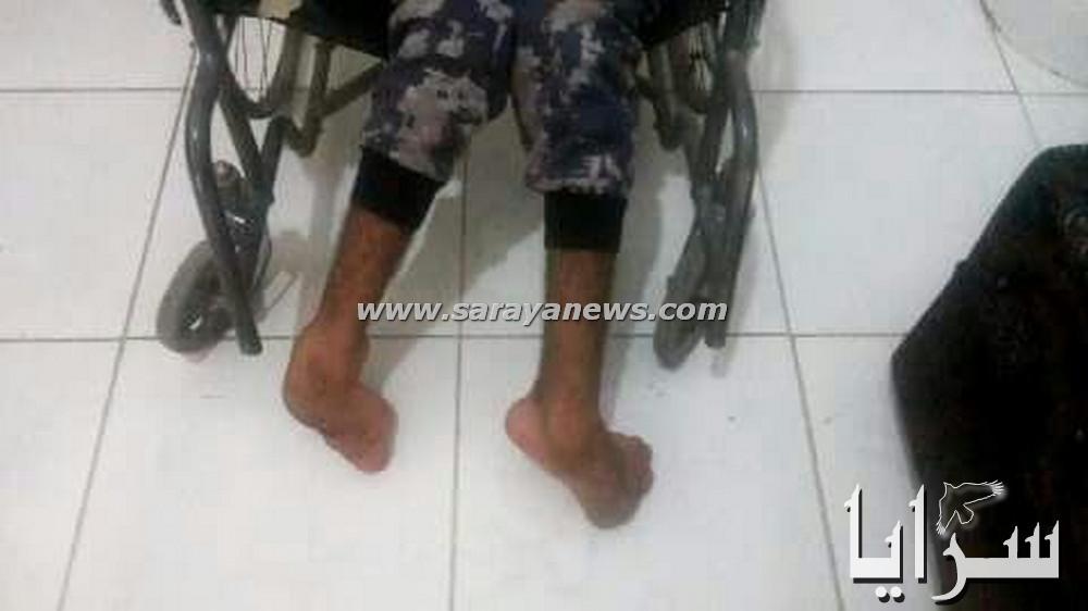 بالصور   ..  معاق حركيا يستعطف اهل الخير  لدفع تكاليف علاجه