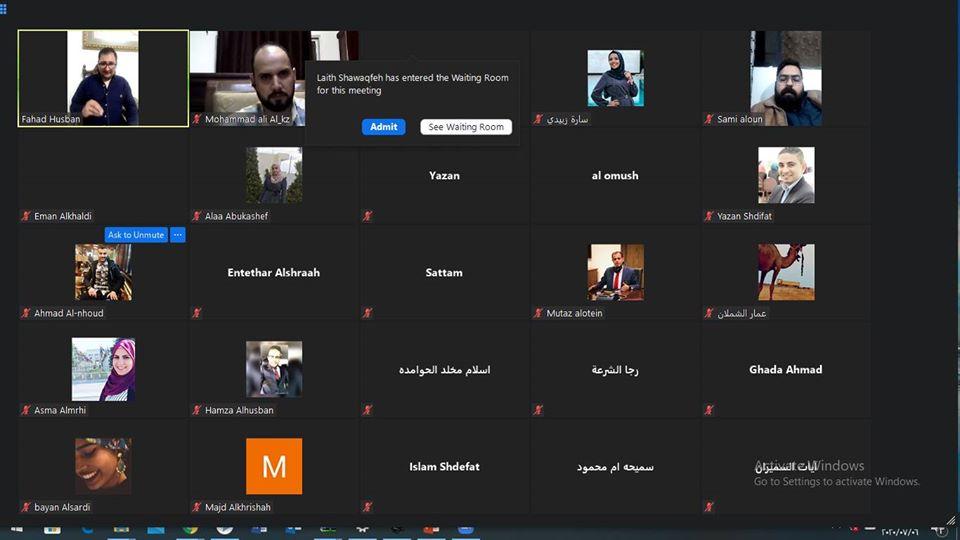 شبكة القيادات الشبابية في محافظة المفرق تعقد جلسة حوارية بحضور وزير الشباب فارس بريزات