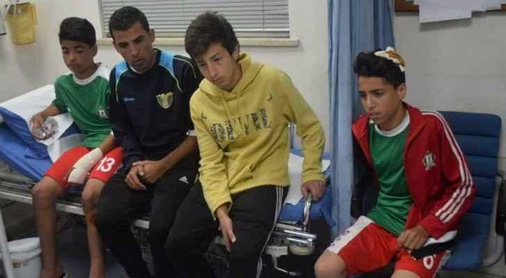 القبض على 5 اشخاص اخرين ممن اعتدوا على لاعبي نادي الوحدات تحت سن 15 عام