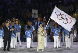 """العلم الأولمبي يصل طوكيو عاصمة دورة 2020 """"صورة """""""