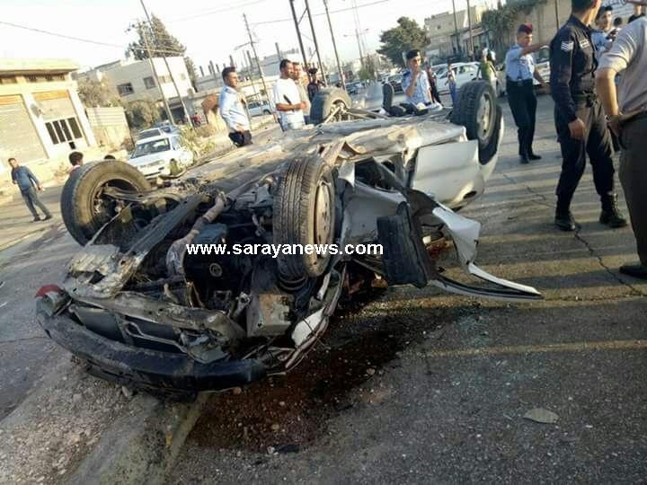 بالصور ..  اربد : 5 إصابات أثر حادث تصادم في منطقة بيت راس