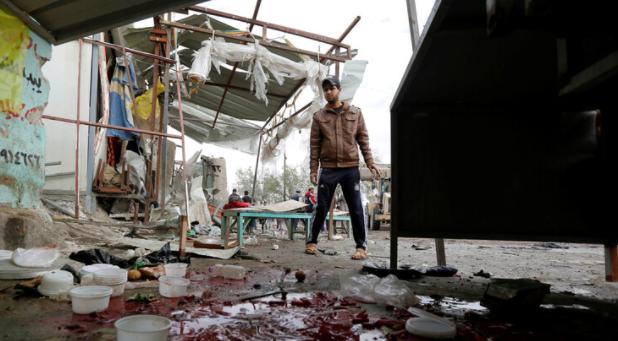 """أكثر من 40 قتيلاً و جريحاً بانفجارين وسط بغداد  ..  """"فيديو يوثق اللحظات الأولى بعد التفجير"""""""