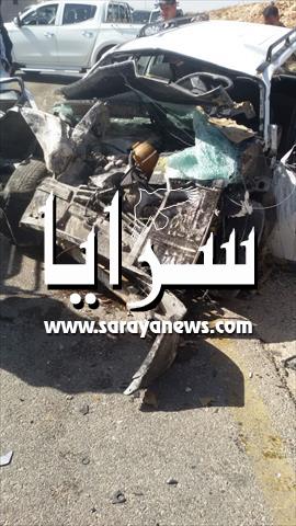 الطفيلة: وفاة وإصابتان في حادث تصادم بين مركبتين