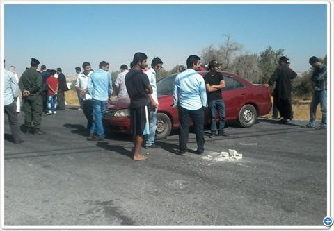 إغلاق طريق جلول  المطار احتجاجا على دمج المدارس