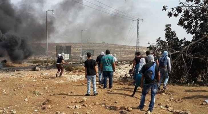 ٩ اصابات برصاص الاحتلال عند المدخل الشمالي للبيرة
