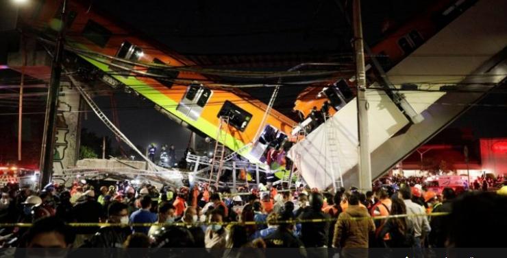 قتلى وعشرات الإصابات بانهيار جسر في المكسيك ..  فيديو
