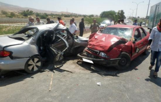 (5) إصابات اثر حادث تصادم في محافظة العاصمة