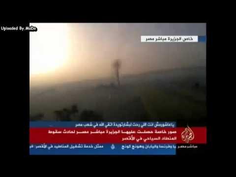 شاهد بالفيديو .. لحظة سقوط منطاد بالأقصر وتفحم 19 سائحًا