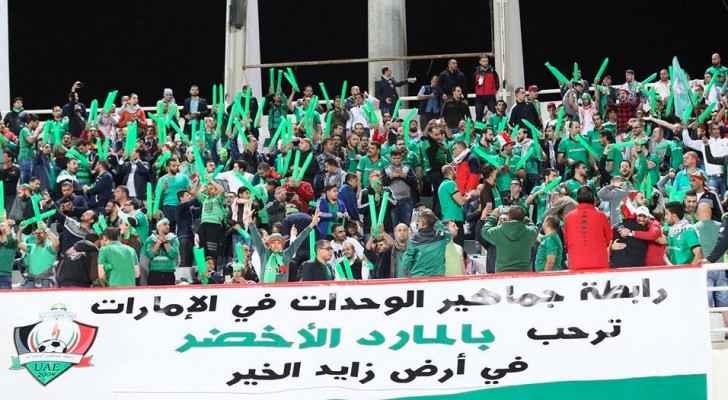 نهاية الشوط الأول بتقدم الوحدة الإماراتي بهدفين دون رد