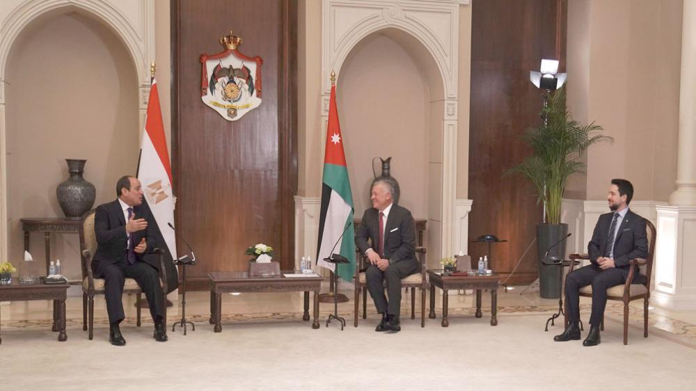 الملك يجري مباحثات مع الرئيس المصري في قصر بسمان