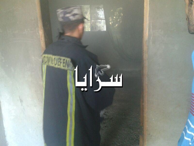 بالصور .. أضرار مادية بحريق منزل في قرية المفردات بالمفرق