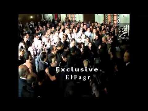 فيديو جديد ..  طرد الضباط لوزير الداخلية من جنازة الشرطة ببورسعيد