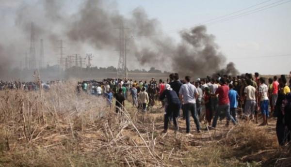 """إصابة 60 مواطناً برصاص الاحتلال بجمعة """"الوحدة الوطنية"""" شرق القطاع"""