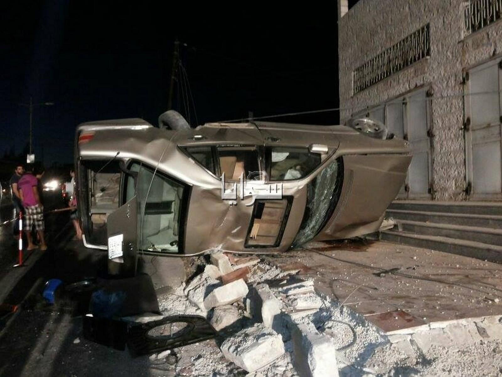بالصور.. اربد : (4) اصابات بتدهور مركبة في منطقة بيت راس
