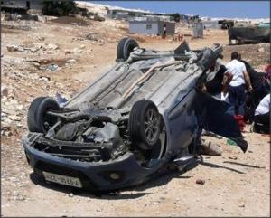 اصابة 5 مواطنين في حادث سير شرقي القدس