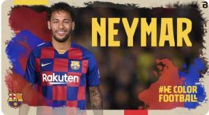 الحساب الرسمي لبرشلونة على تويتر يعلن عودة نيمار