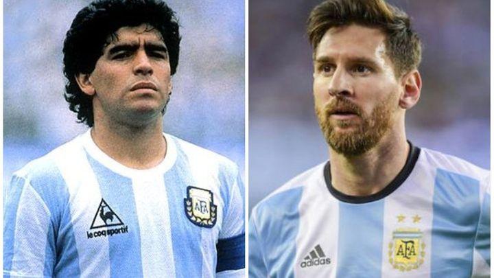 """فيديو نادر """"ميسي و مارادونا"""" جنباً إلى جنب يُشعل مواقع التواصل العالمية  ..  ما هي الحكاية؟"""