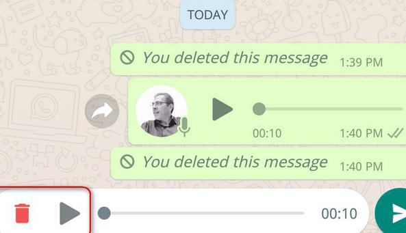 واتساب تتيح ميزة الاستماع الى الرسالة الصوتية قبل ارسالها